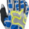 2017 Fox Racing Womens Dirtpaw Gloves-Grey/Blue-M