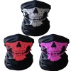 GAMPRO 3 Pcs Breathable Seamless Tube Skull Face Mask, Dust-proof Windproof Motorcycle Bicycle Bike Face Mask for Cycling, Hiking, Camping, Climbing, Fishing, Hunting, Motorcycling (1 SET)